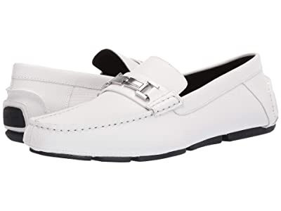 Calvin Klein Magnus (White Small Grid Emboss Leather) Men