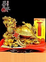 EBERMA Adornment,风水 Feng Shui Furnishing Articles 开光纯铜龙龟摆件八卦金钱龟母子龙龟招财镇宅办公室