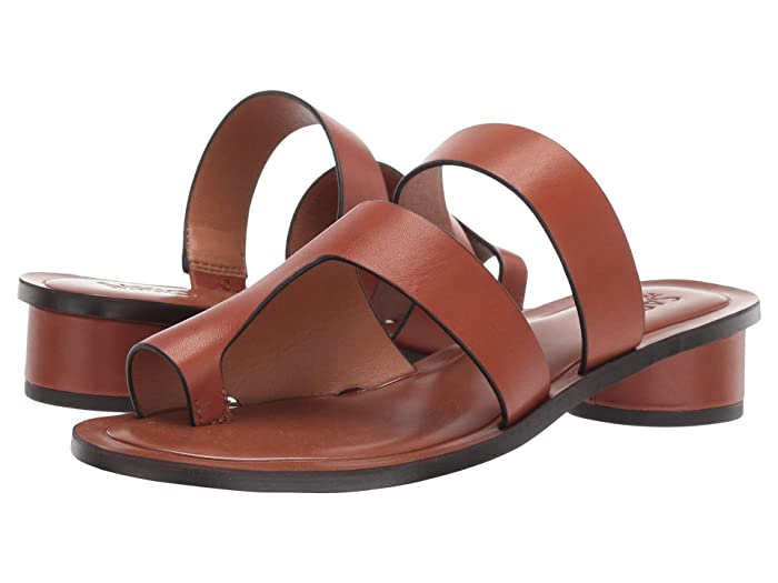 Franco Sarto  Trixie (Brown Leather) Womens Flat Shoes