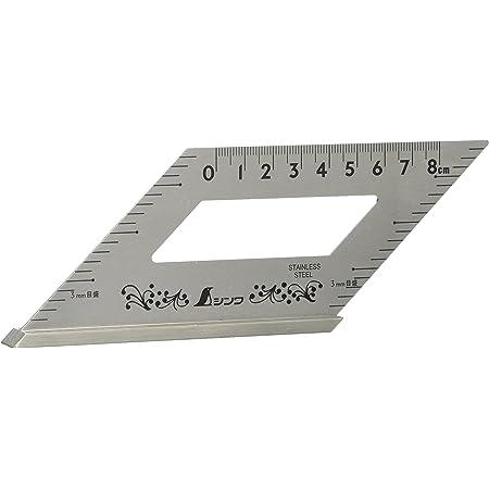 シンワ測定(Shinwa Sokutei) ステン止型定規 メモリツキ 62060