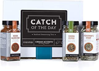 Urban Accents CATCH OF THE DAY, Seafood Spice Rub Seasoning Gift Set (Set of 3) - Ultimate Fisherman Seasoning Set for Seafood, Meat and even Veggies- The Perfect Gift for Any Occasion.