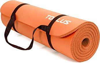 TOPLUS Verdikte gymnastiekmat, ftalaatvrije yogamat, antislip en gewrichtsvriendelijk, sportmat voor yoga, pilates, sport,...