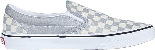 (Checkerboard) Silver/True White