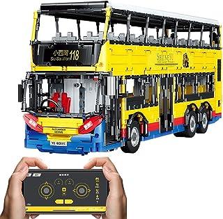 RSBCSHI Blocs de Construction de Bus à impériale, Blocs de Construction assemblés de Particules 4255, télécommande électri...