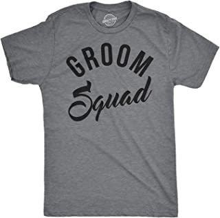 Mens Groom Squad Script Funny T Shirts Bachelor Tees Husband T Shirt