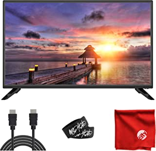 Sansui 32-Inch 720p HD DLED Smart TV (S32P28N) with Built-in HDMI, USB, High Resolution, Digital Noise Reduction, Dolby Audio Bundle with 6.5 ft HDMI Cable and Accessories
