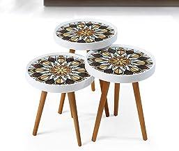 طاولات متدرجة بتصميم رترو 3 في 1
