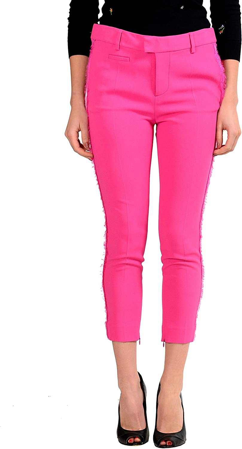 Dsquared2 Women's Bright Pink Cropped Pants US 2 IT 38