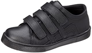 Bellino Velcro Strap Stitched Detail Faux Leather Fashion Sneakers for Boys