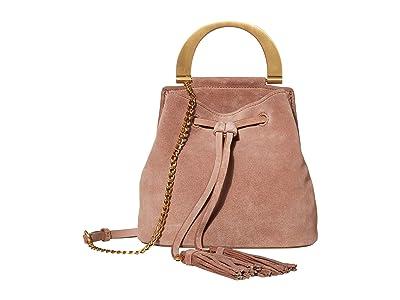 ZAC Zac Posen Biba Buckle Soft Bucket Crossbody Suede (Mineral) Handbags