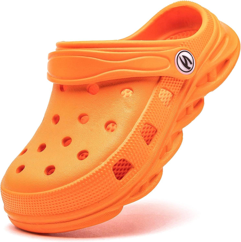 Infant//Toddler//Little Kid HOBIBEAR Boys Girls Classic Graphic Garden Clogs Slip on Water Shoes