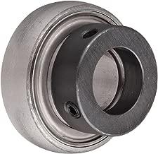 SKF YET 205-100 W Ball Bearing Insert, Eccentric Collar, Contact Seals, Non-Relubricatable, Steel, 1