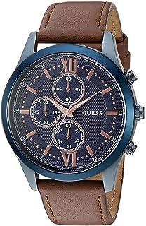 ساعة رسمية جيس للرجال، جلد طبيعي، انالوج - W0876G3