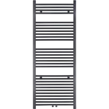 Horizontal VILSTEIN Bad-Heizk/örper Anthrazit Seitenanschluss und Mittelanschluss 1800x600 mm
