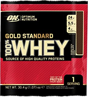 Optimum Nutrition Gold Standard 100% Whey Proteína en Polvo, Chocolate - 24 unidosis