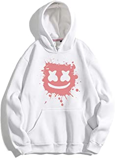 SV White-Pink Hoodie with Marshmellow Print …