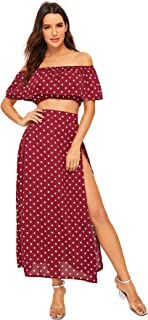 Best off shoulder top and maxi skirt Reviews