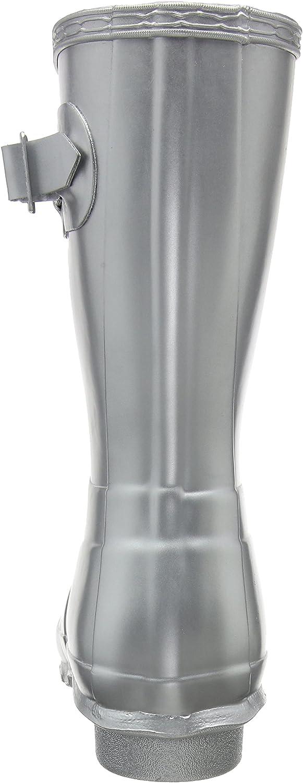 Mujer Hunter Original Short Gloss Invierno Lluvia Botas De Goma Botas Plateado Silver Sil