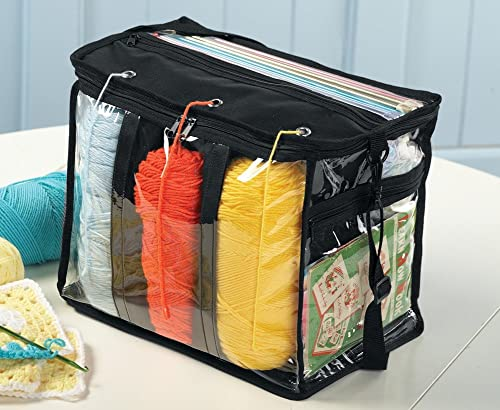 lowest Clear Plastic Portable Yarn Tote discount popular Bag online