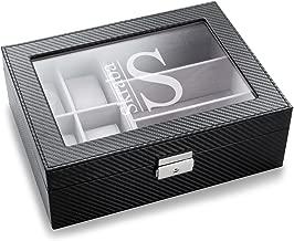 Custom Monogrammed Men's Watch and Sunglasses Box - Personalized Watch and Sunglasses Box