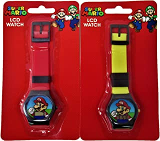 Super Mario Watches for Boys LCD Mario Watch Designed and Styled to Suit Boys (2 Pack one Yellow Band and one Red Band) Ready to Gift!