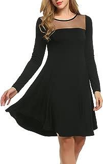 Women's Sheer Mesh Swing Loose T-Shirt Tunic Dress