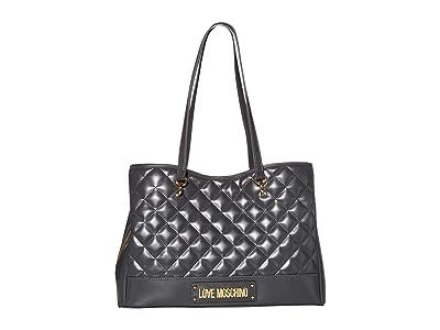 LOVE Moschino Shinny Quilted Bag (Grey) Handbags