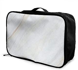 Travel Bags White Marble (3) Portable Handbag Fantastic Trolley Handle Luggage Bag