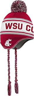 NCAA Washington State Cougars Toddler Outerstuff Jacquard Tassel Knit Hat w/ Pom, Team Color , Toddler