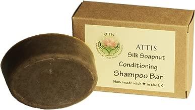 ATTIS Handmade Silk Soapnut Conditioning Shampoo Bar   with Shikakai   Rosemary & Orange Essential Oils   Sulfate Free   For Men & Women   Vegan