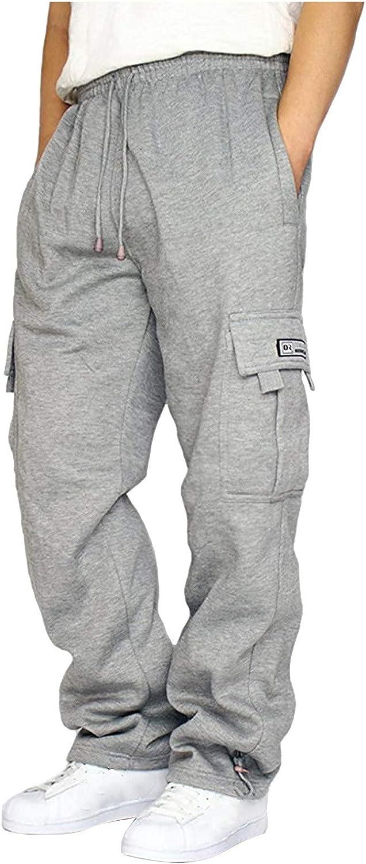 Binggong Pantalones de chándal para hombre, cintura elástica, para correr, fitness, senderismo