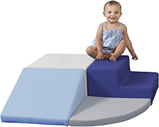 FDP 11619-NVPB SoftScape Playtime Step and Slide Climber for Infants and Toddlers, Colorful Beginner Soft Foam Structure f...
