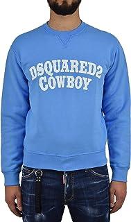 Dsquared2 Sweatshirt Cowboy Men Blue New