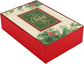 Hallmark Boxed Christmas Cards, Holiday Holly (40 Christmas Cards with Envelopes)