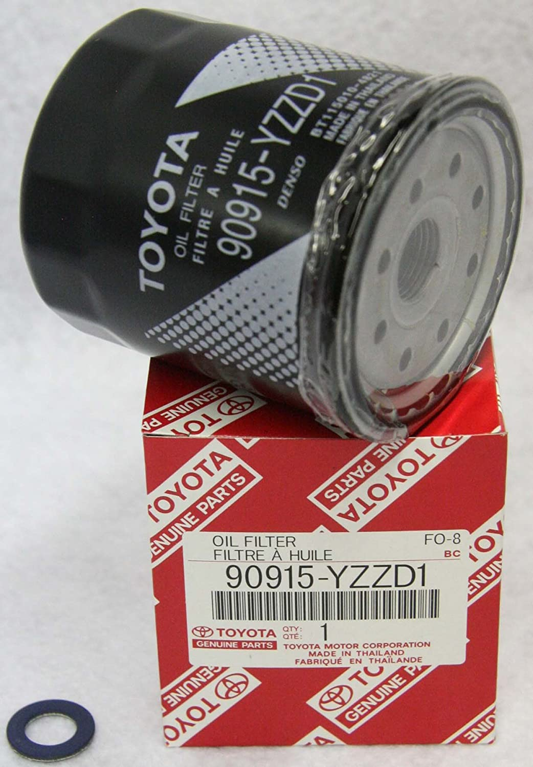 Toyota Genuine Parts 90915-YZZD1 Oil Filter and 90430-12028 Oil Drain Plug Gasket Oil Change Kit 1 Case (QTY 10)