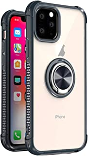 iPhone 11 pro max case cover clear cell phone case for iPhone xi 2019 transparent cover 360 protective rugged ring kicksta...