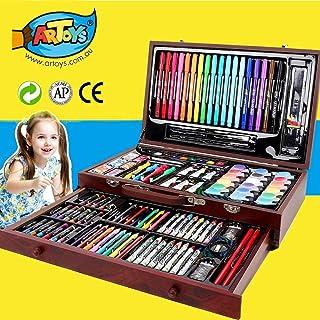 ARTOYS Set de Pintura Niños,123 Piezas Caja de Madera con