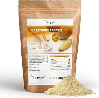 Kartoffelfasern 1100 g - Nur 8% Kohlenhydrate - 100% Kartoffelmehl - Rückstandskontrolliert - Kartoffeln aus Deutschland Low Carb - Vegan - Glutenfrei - Premium Qualität