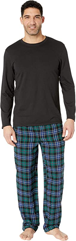 Flannel Sleep Pants & Jersey Top Box Set
