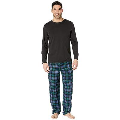 Jockey Flannel Sleep Pants Jersey Top Box Set (Navy 1) Men
