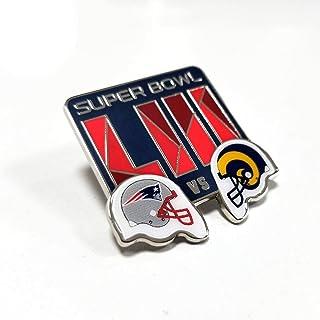 Football 2019 NFL Super Bowl 53 LIII Dueling Los Angeles Rams New England  Patriots Lapel Pin e60b2bb32