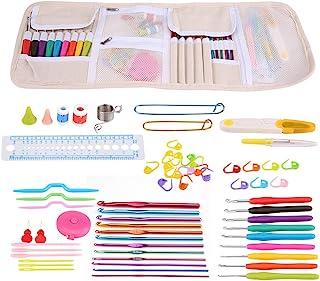 Crochets Crochet Set Avec Cas, Poignée Ergonomique Crochet Crochets Needles Set Couture Outils De Tricot