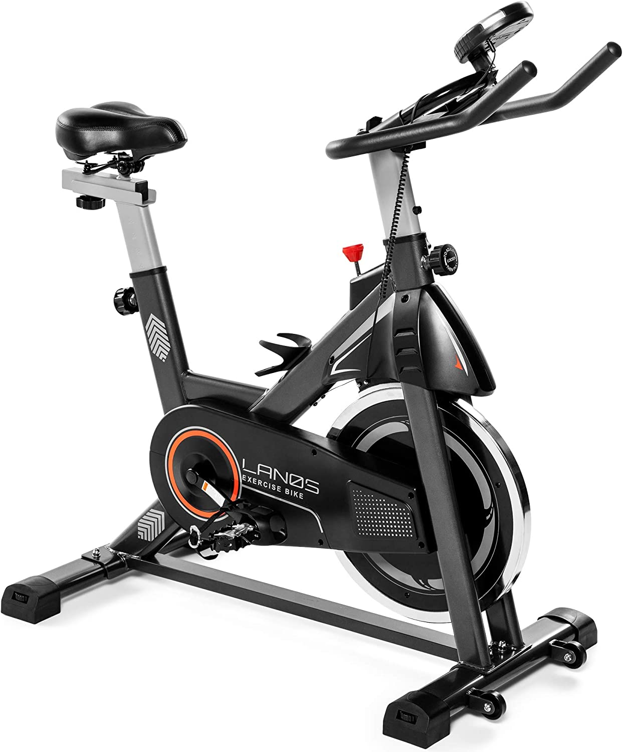 Lanos Exercise Bike, Stationary Bike for Indoor Cycling | The Perfect Exercise Bikes for Home Gym | Indoor Exercise Bike for Men and Women | Stationary Bike | Bicicletas Para Hacer Ejercicio en Casa