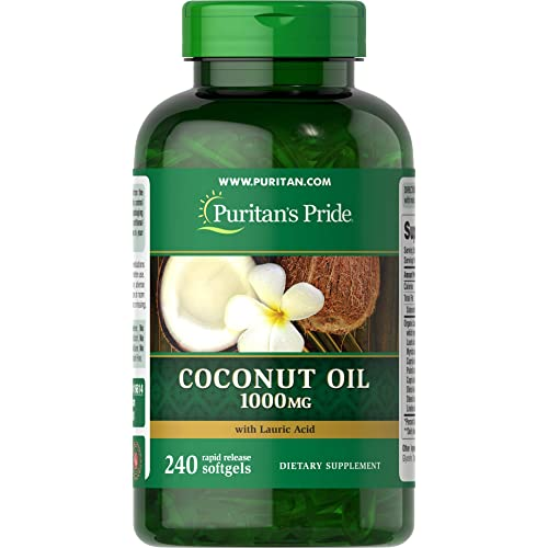 Puritan's Pride Coconut Oil 1000 mg-240 Rapid Release Softgels