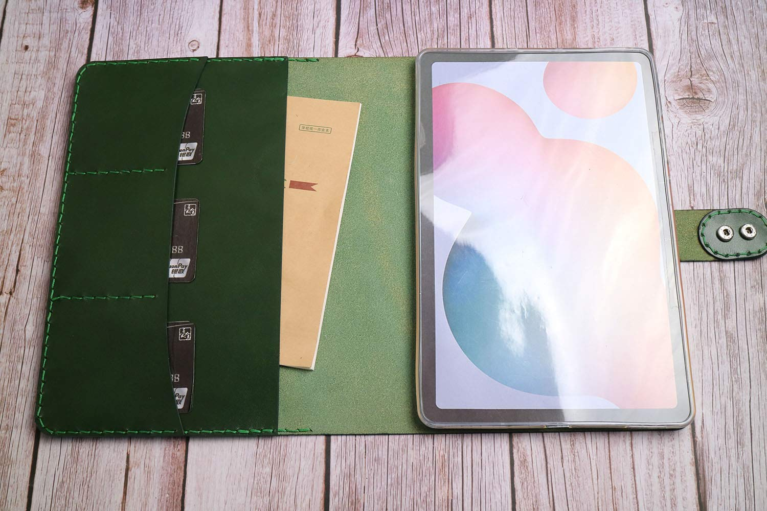 Handtooled iPad 9.7 2018 Cover Case Stitched Pro NEW before selling ☆ Hand Low price Leather