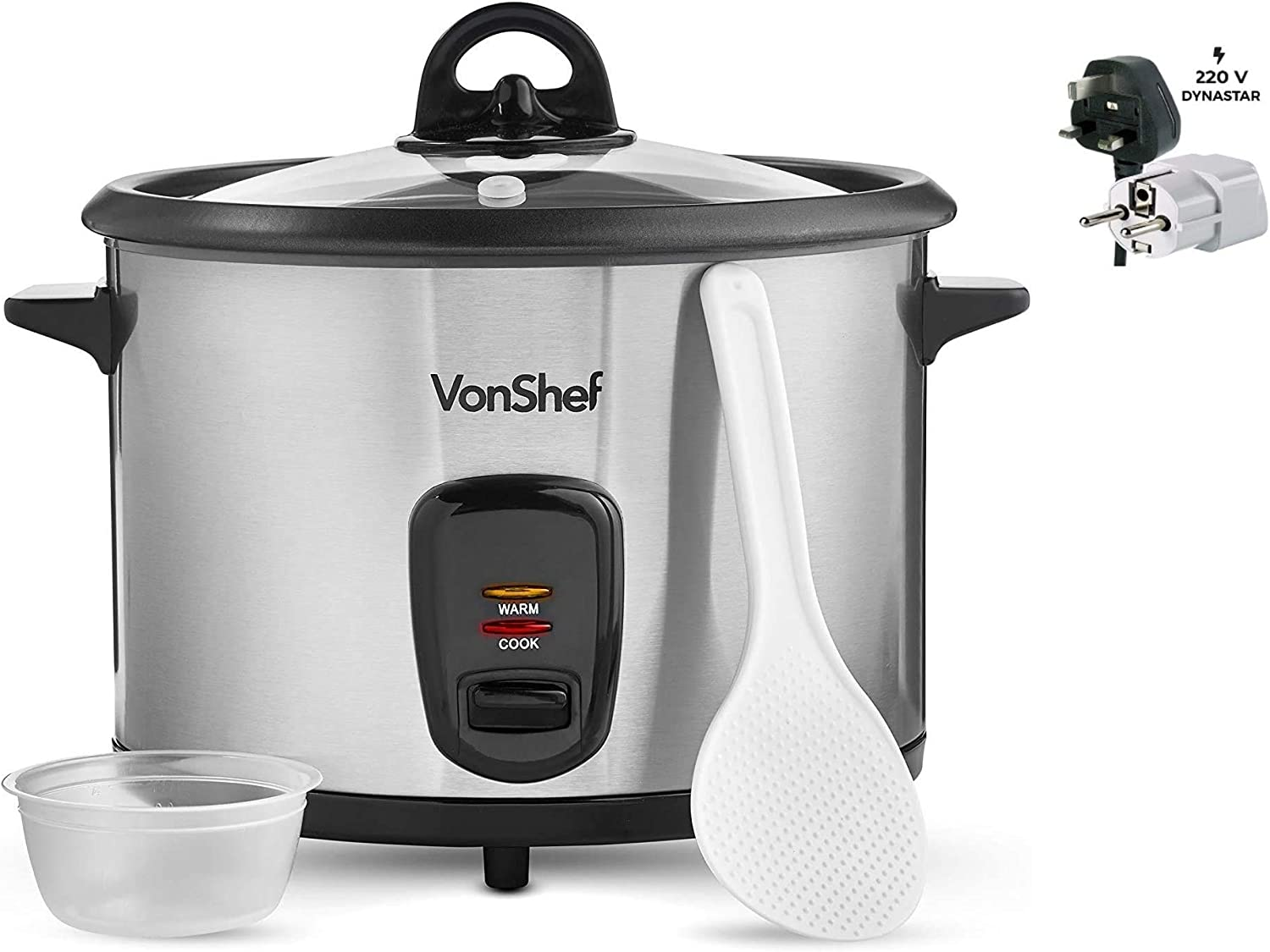Vonshef 220 Volt Rice Cooker 10 Genuine Free Shipping Cup Stick Steel Complete Free Shipping Non Stainless