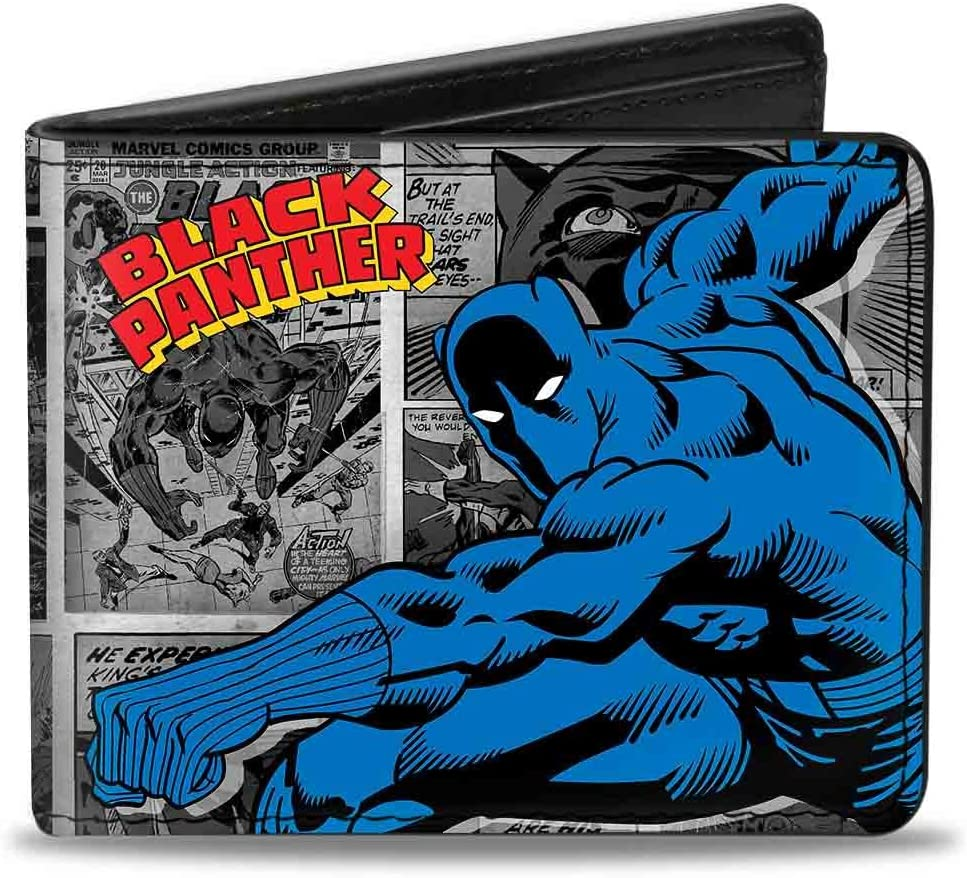 Buckle-Down mens Buckle-down Pu Bifold Black Ranking TOP19 - Po Action Panther Complete Free Shipping