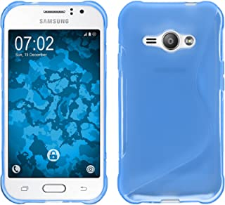 Silicone Case for Samsung Galaxy J1 ACE - S-Style blue - Cover PhoneNatic + protective foils