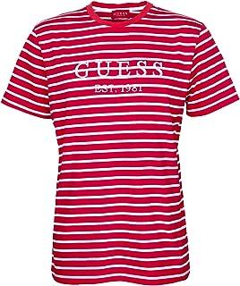 Guess Stripe Motif Logo T- Camiseta para hombre