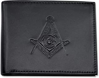 leather masonic wallet